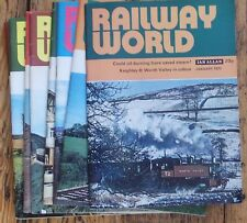 RAILWAY WORLD January - December 1972 (All 12 issues) Pictorial Railway Journal