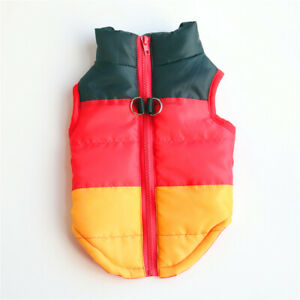 Winter Warm Pet Dog Jacket Clothes Windproof Puppy Cat Vest Coat Padded Outfits