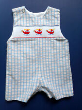 Boys Velani Classics Smocked Helicopters Shortall 18 mos Party Portrait