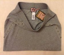 Genuine Juicy Couture Mini Skirt Grey cotton jersey Size S NEW