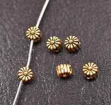 100Pcs Tibetan silver bead charm flower spacer beads Jewellery 5MM A3115