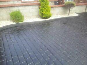 Imprinted concrete colour driveway sealer paint pattern imprint 20 litre Grey).