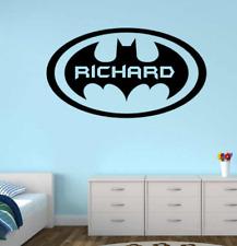 Personalised batman vinyl wall sticker for kids bedroom DIY childrens
