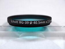 Schott BG-39 40.5mm UV-Visual dual bandpass filter for Nikkor EL UV photography