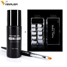Venalisa Double Brush/100 Nail tips/Slip Solution liquid    set of 3pcs