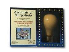 """AUTHENTIC USED ICONIC """"WELCOME TO LAS VEGAS SIGN"""" LIGHT BULB #D/94 STRIP HISTORY"""