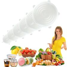12pcs Silicone Bowl Cover Reusable Vacuum seal food wrap Food Stretch Lids Cover
