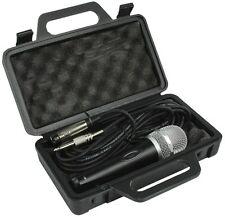 DURABLE dinamico professionale XLR Microfono Mic con 5m Lead & NERO VALIGETTA