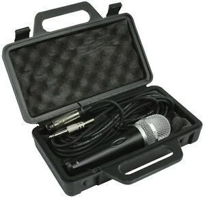 DURABLE DYNAMIC PROFESSIONAL XLR MICROPHONE MIC WITH 5M LEAD & BLACK CARRY CASE