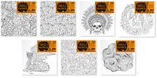Sonderangebot 7 Fantasiemotive Bildrahmen zum ausmalen Stifte Fraben