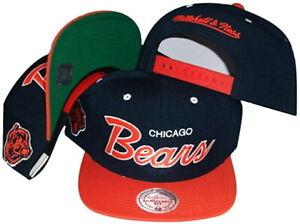 Mitchell & Ness Men's Chicago Bears Script Adjustable Snapback Hat