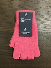 100% Cashmere Fingerless Gloves   Johnstons of Elgin   Made in Scotland   Pink