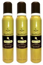 Lot of 3 HAIR CHEMIST MACADAMIA OIL CLEANSE 'N STYLE CONDITIONING MOUSSE 6.3 OZ