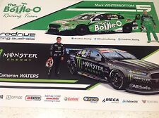 V8 SUPERCARS FORD MARK WINTERBOTTOM CAMERON WATERS RACING POSTER BATHURST CAR 1