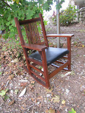 Antique Nice L&jG Stickley Spindle Arm Rocking Chair inv3139 Free Shipping