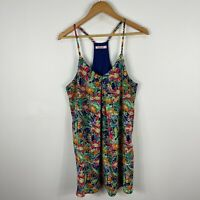 Sophia Womens Dress 12 Multicoloured Floral Sleeveless Scoop Neck Racerback