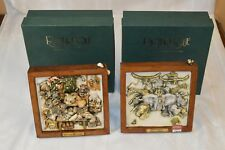 "2 Vintage Harmony Kingdom Picturesque Tiles ""Ruffians Feast"" and ""Storm Brewing"""