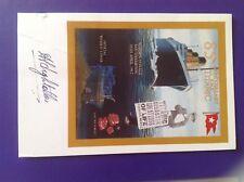 Titanic 85th anniversary postcard signed AT Lightoller grandson Officer 9/100 AF