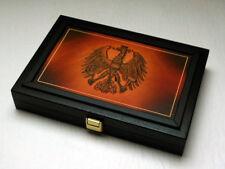 Massivholzkassette Österreich 25 + 100 Schilling Gold
