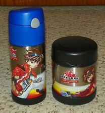 Thermos Brand - Bakugan - 10 Oz Insulated Food Jar & 12 Oz Straw Water Bottle