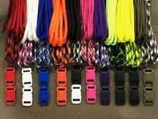 550 Paracord Kit for Parachute Cord Bracelet 100/200 feet + 10/20 Color Buckles
