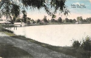 H53/ Lake City Florida Postcard c1915 Lake De Soto Homes Pavilion