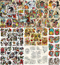 """Vintage Traditional Style Tattoo Flash Collection, Lot, 47 Sheets 11x14"""" Artwork"""