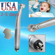 LED power system 3 Way High Speed Dental Handpiece 4 Holes Standard Push Button