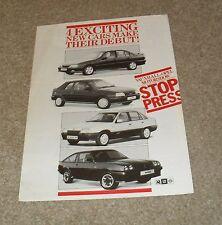 Vauxhall Promotional Brochure 1986 - Carlton GSI Manta Exclusive Belmont SRI