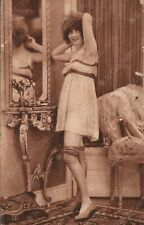 1920 Risque old vintage erotic postcard Lady dressing