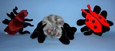 PLUSH BUG HAND PUPPETS;SPIDER-BLACK WIDOW;BROWN ANT;LADY BUG BEETLE;INSECTS;LOT