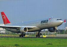 Northwest Airlines , Airbus A330-323X ,Ansichtskarte, ungel.