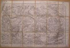 Evreux N° 47-II ( Eure - Normandie ) Carte d'état major ancienne 1:50 000 - 1931