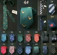 Mens Animal Pattern Necktie Ties Formal Business Skinny Slim Narrow Tie 7CM
