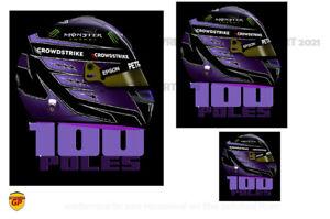 Lewis Hamilton F1 100 Poles Helmet Sticker - Scuderia GP