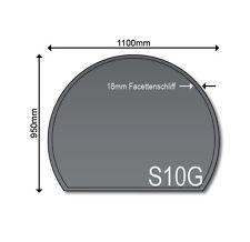 Glasbodenplatte Funkenschutz Kaminplatte S10 Grau 6mm Neu 950 x 1100 Ofenplatte