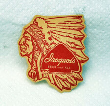 Vtg Iroquois Beer Coaster Die Cut Indian Head Chief Mat Buffalo NY Unused NOS