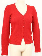 Vintage 90s Maroon Italian Jumper Cardigan MAROSTICA Sz 8 10 1990s Red Clothing