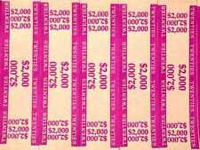 50 - Violet $20 Self-Sealing Currency Bands $2,000 Cash Money Straps For Twenty