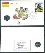 1988 VATICANO VIAGGI DEL PAPA BOLIVIA CON MONETA - SV2