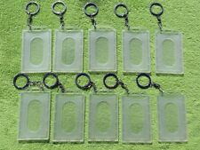 10 x Clear ID Card Holder, Ring & Chain for Fuel Card,Loyality,Membership Card