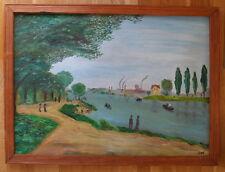 """Öl Gemälde n. Claude Monet """"Spaziergang an der Seine"""" MEISTERKOPIE als Original"""
