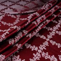 Tessuto al metro per arredamento e tendaggi h.280 Raso Rosso Jacquard Venezia