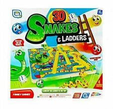 Grafix 3D Snakes and Ladders Kids Childrens Family Board Game