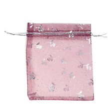 100 Mixed Organza Gift Bags Jewellery Pouch 13cm X 10cm F3J9