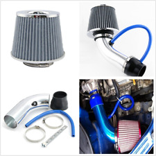 Silver 3inch/76mm Car Cold Air Intake Filter System Aluminum Pipe Flow Hose Kits