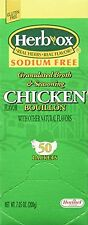 Hormel Herb Ox Chicken Bouillon Sodium Free 50 Packets, New, Free Shipping