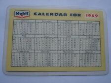 MOBILOIL/GAS ADVERTISING PLASTIC POCKET CALENDAR/NOTEPAD FOR 1959