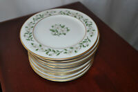"Set of 4 Princess China Tru-Tone Bridal Wreath 6 1/4"" Bread Plates NICE CheaP!"