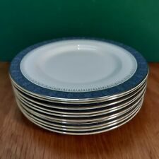 10 Royal Doulton Dessert/Salad Plates in the Sherbrooke Pattern - H5009 - 1st